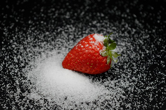 erdbeere in xylit